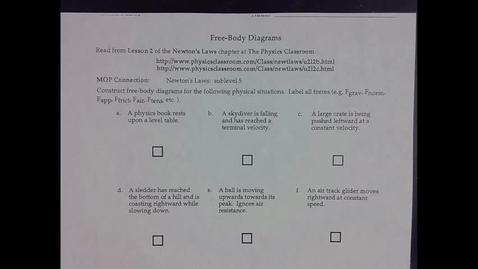 Thumbnail for entry Free Body Diagrams 9-21-21
