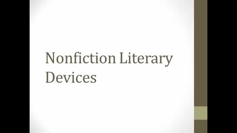 Thumbnail for entry World Lit Nonfiction Literary Devices