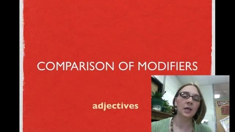 Thumbnail for entry Comparison of Modifiers