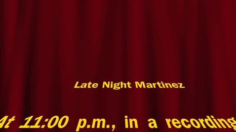 Thumbnail for entry Late Night Martinez - Thunderstorm Edition