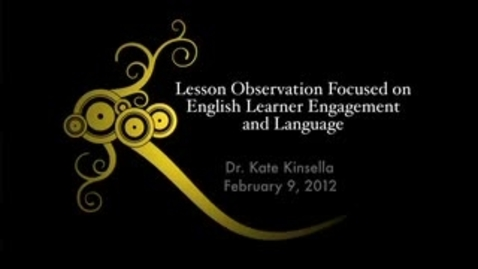 Thumbnail for entry Dr. Kate Kinsella Speaking on English Learner Engagement
