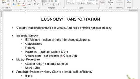Thumbnail for entry APUSH Review 5: Economy