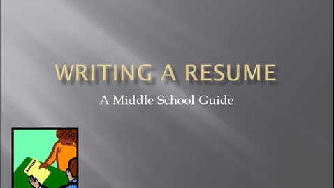 Thumbnail for entry Writing Resumes Day 1 - Part 1