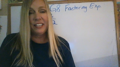Thumbnail for entry Brighton Adventist Academy Math Grade 8 Factoring expressions