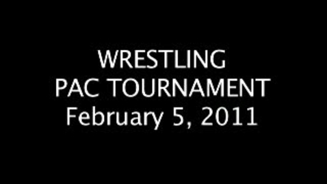 Thumbnail for entry PAC WRESTLING TOURNAMENT
