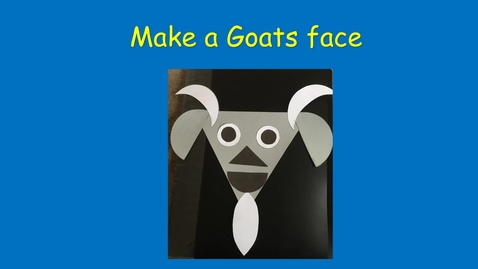 Thumbnail for entry Make a goats face