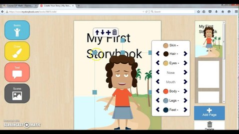 Thumbnail for entry HOW TO USE STORYBOOK - Demonstration of MyStorybook.com Tool