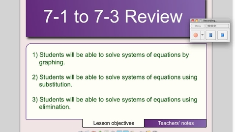 Thumbnail for entry 7-1 to 7-3 Review