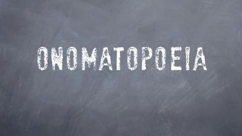 Thumbnail for entry Onomatopoeia