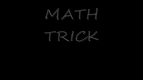 Thumbnail for entry 8 Times Tables Trick