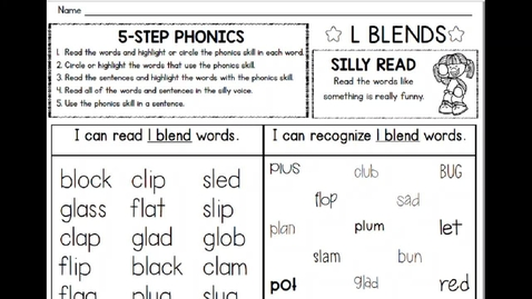 Thumbnail for entry Phonics L Blend Review