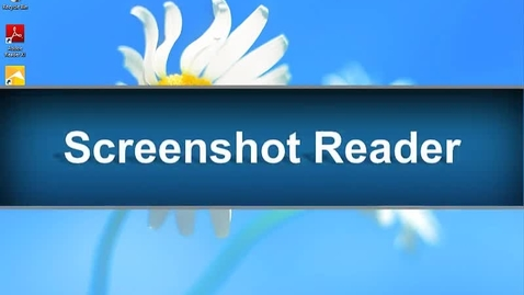 Thumbnail for entry Screenshot Reader Feature - Read&Write Gold Version 11