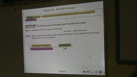 Thumbnail for entry PA Lesson 7-6 Percent of Change