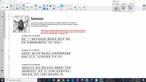 Thumbnail for entry Samson Activity Video