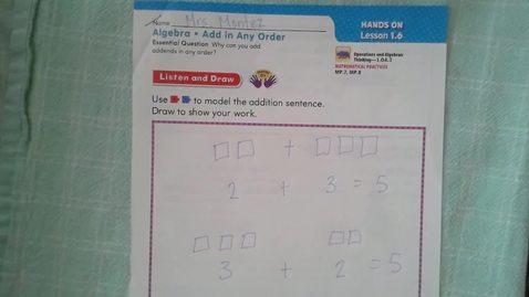 Thumbnail for entry Thursday 9/10 Go Math 1.6