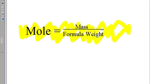 Thumbnail for entry Mole conversions Bellwork A LIVING ANSWER KEY