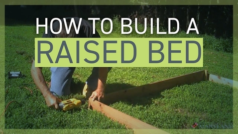 Thumbnail for entry How to Build a Raised Bed for Your Garden