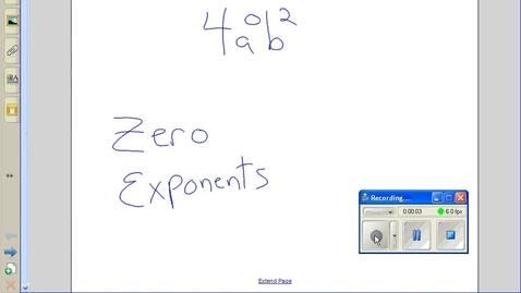 Thumbnail for entry Zero exponents example 2