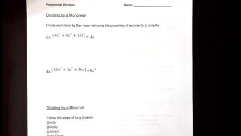 Thumbnail for entry Dividing Polynomials