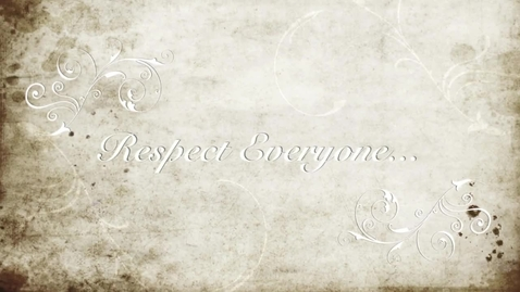 "Thumbnail for entry The Right ""R"" Word - Respect"