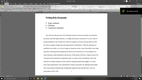 Thumbnail for entry Writing Body Paragraphs for Research Papers