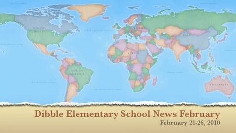 Thumbnail for entry Dibble Elementary News February 21-26