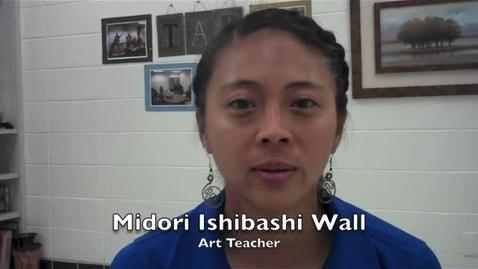 Thumbnail for entry Midori Ishibashi Wall - New Caney HS Art Teacher