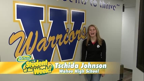 Thumbnail for entry Tschida Johnson: Runza Student of the Week!
