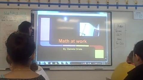 Thumbnail for entry Daniela O math career