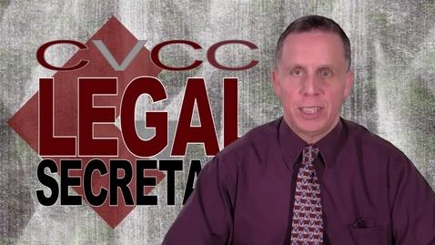 Thumbnail for entry CVCC Legal Secretary