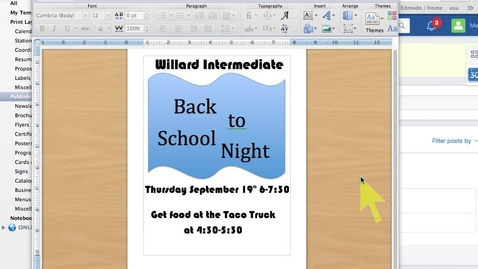 Thumbnail for entry Microsoft Word 2011-Saving the file as PDF and uploading to Edmodo