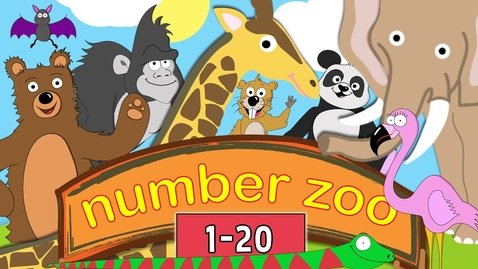 Thumbnail for entry Learn to Count to 20 with Number Zoo | Toddler Fun Learning Collection