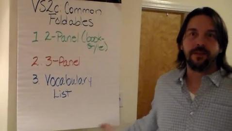 Thumbnail for entry VS2c - Common Foldables