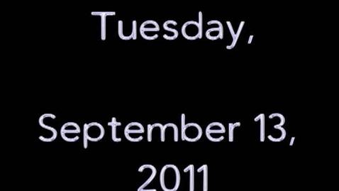 Thumbnail for entry Tuesday, September 13, 2011