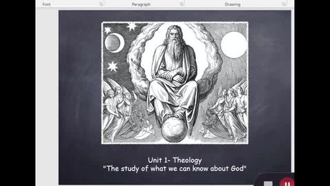 Thumbnail for entry Unit 1 Theology : Notes part 1