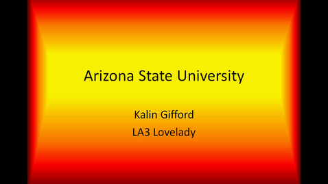 Thumbnail for entry Kalin's ASU Presentation