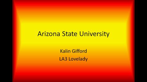 Thumbnail for entry Kalin's ASU Presentation