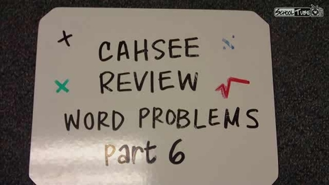 Thumbnail for entry Word Problems VI