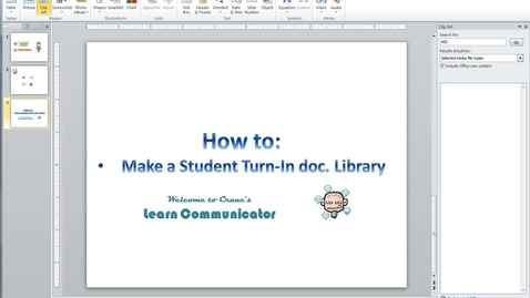 Thumbnail for entry Communicator - Student Upload Library