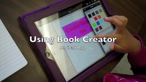 Thumbnail for entry Student using Book Creator App