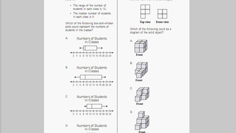 Thumbnail for entry MCAS Math 2010 Page 17