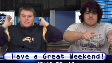 Thumbnail for entry Viking Vision News Friday 3-26-2010