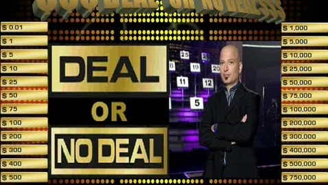Thumbnail for entry Free Deal or No Deal PowerPoint Game Template