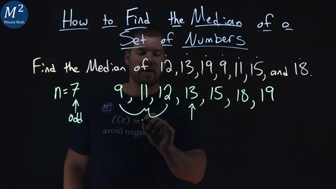 Thumbnail for entry How to Find the Median of a Set of Numbers | Minute Math