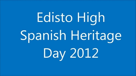 Thumbnail for entry Edisto High Spanish Heritage Assembly 2012