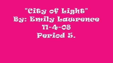 Thumbnail for entry CIty of Light