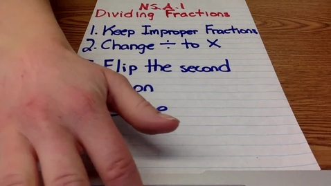 Thumbnail for entry Dividing Fractions Example