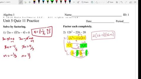 Thumbnail for entry Unit 5 Quiz 11 Practice (3,4)