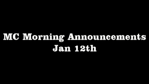 Thumbnail for entry MC Morning Announcements