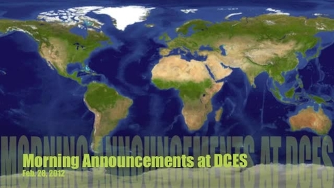 Thumbnail for entry Morning Announcements Feb. 28, 2012